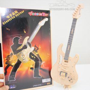 3D дървен пъзел - електрическа китара