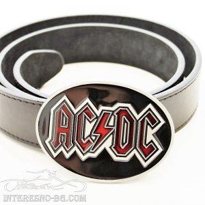 AC/DC – колан с изкуствена кожа