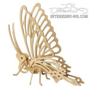 """Интересен подарък- дървен пъзел""""Пеперуда"""""""