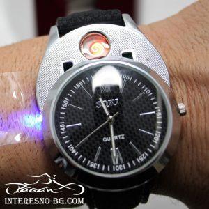 Мъжки часовник с вградена USB запалка-оригинален подарък за Вашите любими хора.