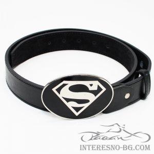 Superman-Интересен подарък за рокери и рок фенове-колан