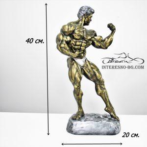 Mr.OLYMPIA-златиста статуетка подходяща за любителите на фитнеса.
