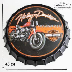 Метална табела за стена-Harley Davidson