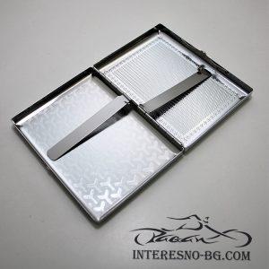 Подарък за пушачи-метална табакера