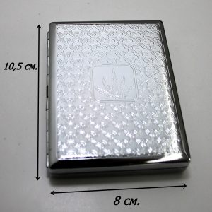 Подарък за пушачи-метална табакера -МАРИХУАНА