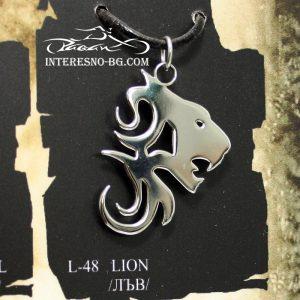 """Стоманено колие """"Лъв""""-чудесен подарък за вашите близки."""