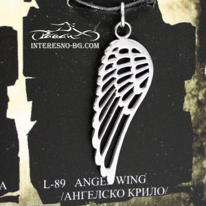"""Стоманено колие """"Ангелско крило""""-чудесен подарък за вашите близки."""