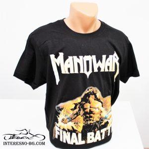 Памучна тениска MANOWAR-чудесен подарък за феновете на rock музиката.