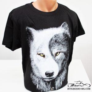 Памучна тениска Вълк Ин Ян-един чудесен подарък за вашите любими хора.