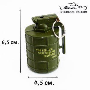 Метална газова запалка граната-оригинален подарък за вашите близки.