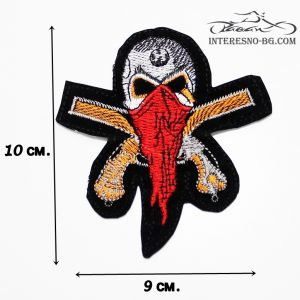 Нашивка Череп-един чудесен подарък за любителите на моторите и рок музиката.