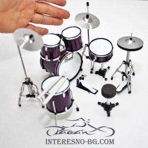 Мини барабани-прекрасен подарък за любителите на музиката.