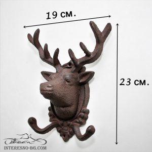Метална закачалка Елен-един чудесен подарък за любителите на лова и природата.