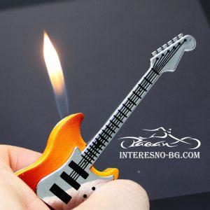Забавна газова запалка-китара.