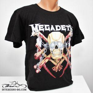 Памучна тениска Megadeth-чудесен подарък за феновете на rock музиката.