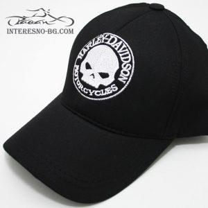 Черна, бейзболна шапка с козирка HARLEY DAVIDSON.