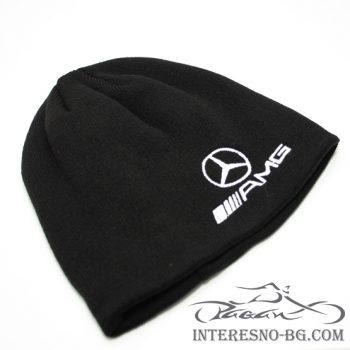 Зимна плетена шапка Mercedes Benz AMG
