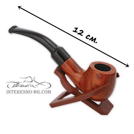 Стилна дървена лула за тютюн