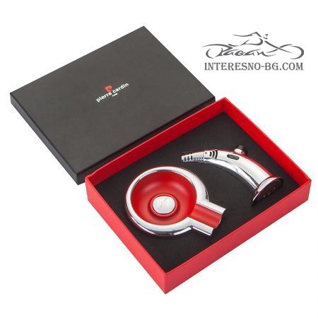 Луксозенкомплект настолна запалка + пепелник за пури - PIERRE CARDIN