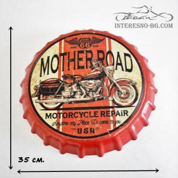 Метална табела за стена-MOTORCYCLE