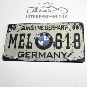 Метална табела за стена BMW