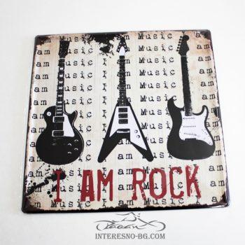 Метална табела за стена I AM ROCK