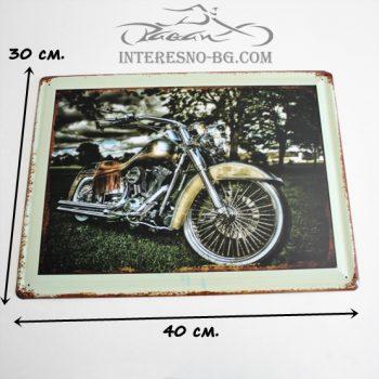 Метална табела за стена Motorcycle Road
