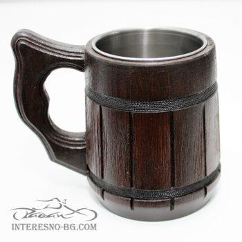 Дървена халба за бира